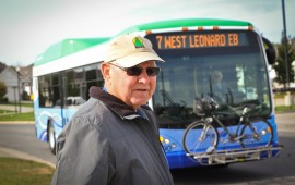 Walker's John Alkema can rest easy now that Walker residents have voted overwhemingly to stay in The Rapid system. Photo: Friends of Transit.