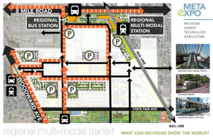 META Expo Transportation Hub at Michigan State Fairgrounds