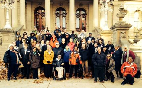 Our group gathered for a photo on the Capitol steps