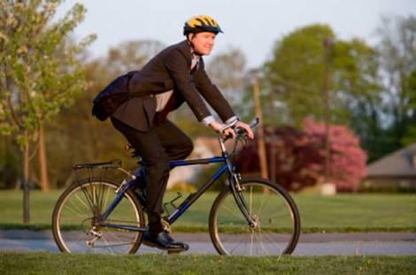 Bike Commute Man