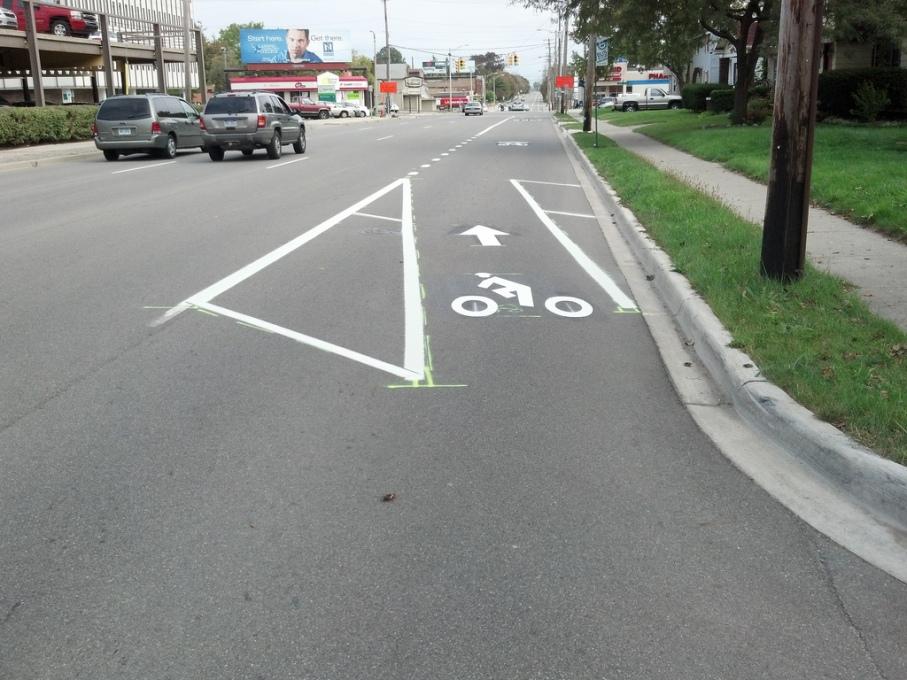 LMB  Saginaw street bike lane