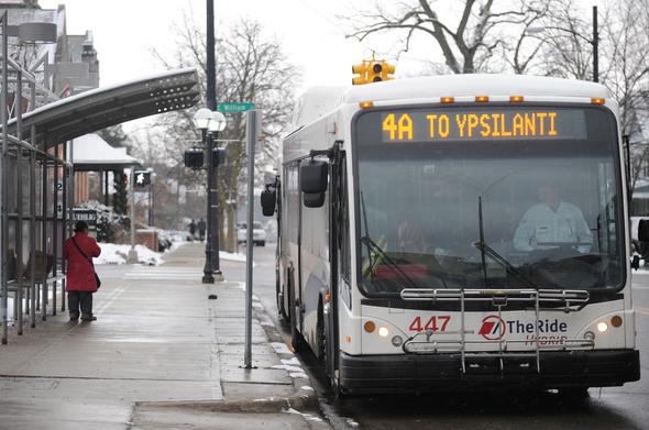 AATA Bus Front annarbor.com