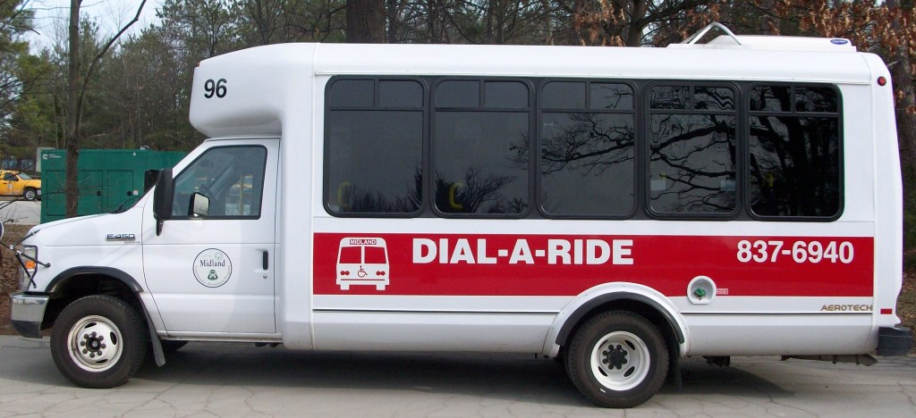 Dial-a-ride Services in Midland help provide transit services to vital populations in a lower density area.