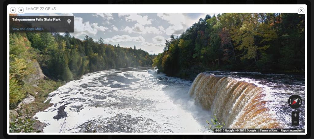 Google Trekker captures the action at Tahquamenon Falls State Park