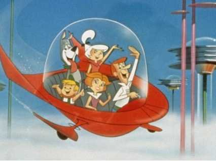 We may not have flying cars in 2015, but the Jetsons promise we'll be flying to work by 2062.